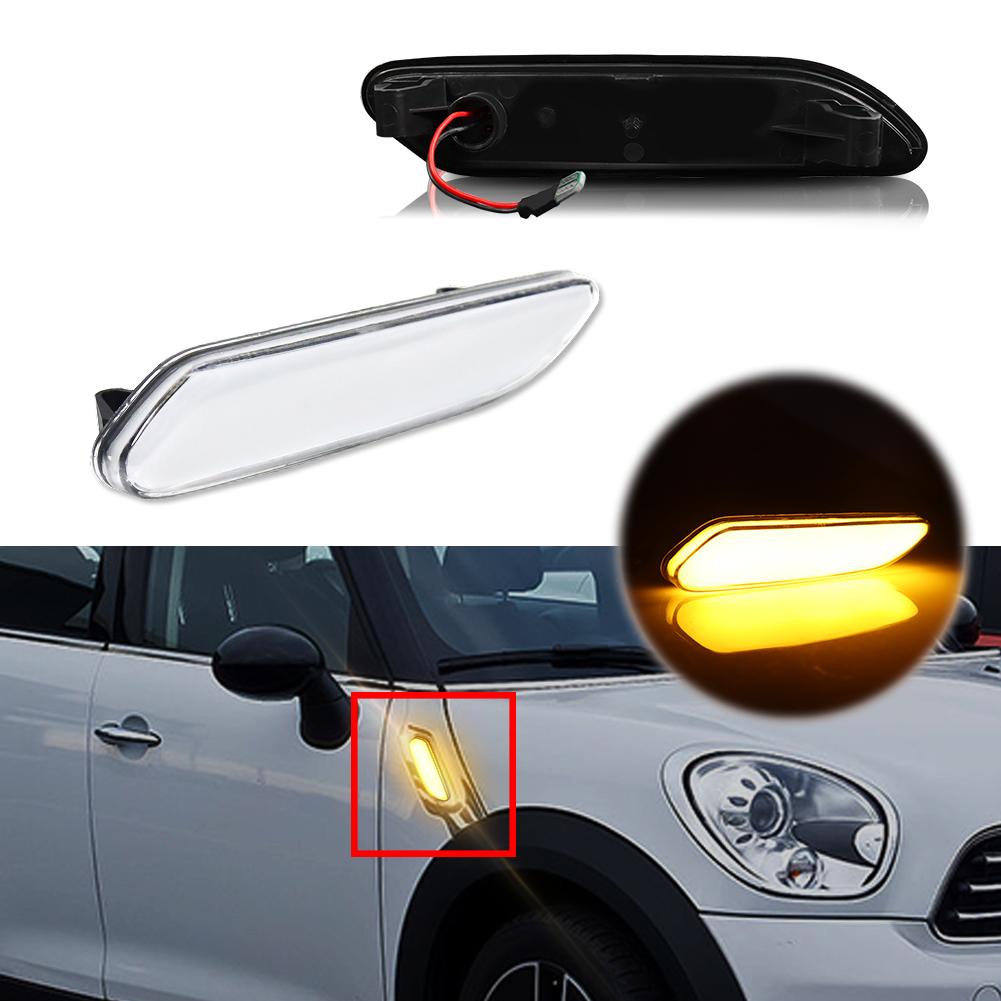 2x Fits Mini Cooper R50 18-LED Front Indicator Repeater Signal Light Lamp Bulbs