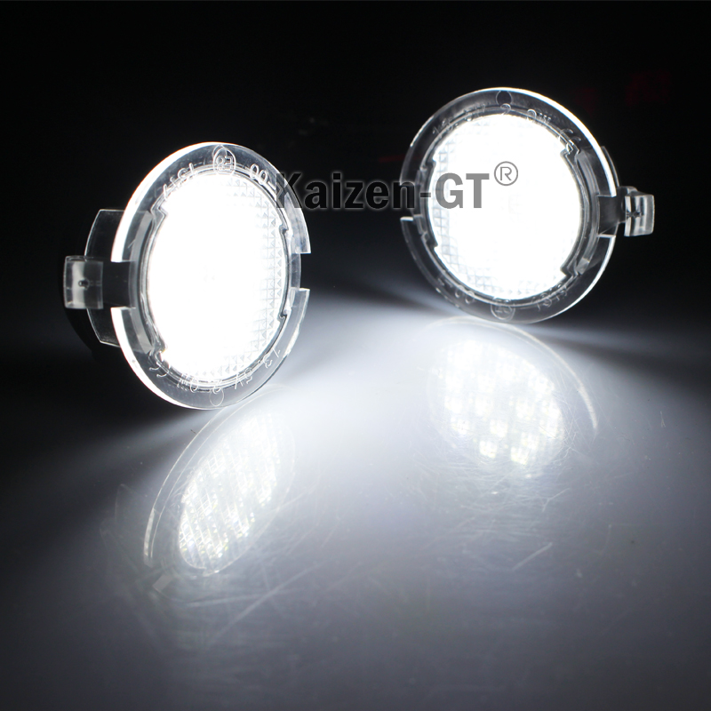 2x High Power White Led Side Mirror Puddle Lamps Lights