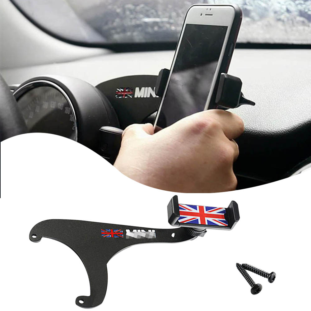 Union Jack Flag Smartphone Cell Phone Mount Holder Only For Mini Cooper R60 R61