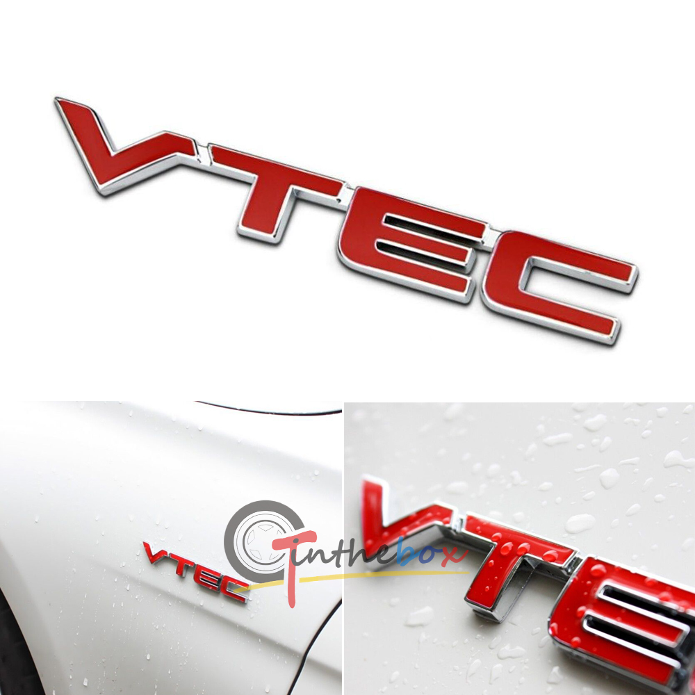 Metal red letter vtec car sticker auto fender decal emblem for honda metal red letter vtec car sticker auto fender decal emblem for honda accord crv publicscrutiny Image collections