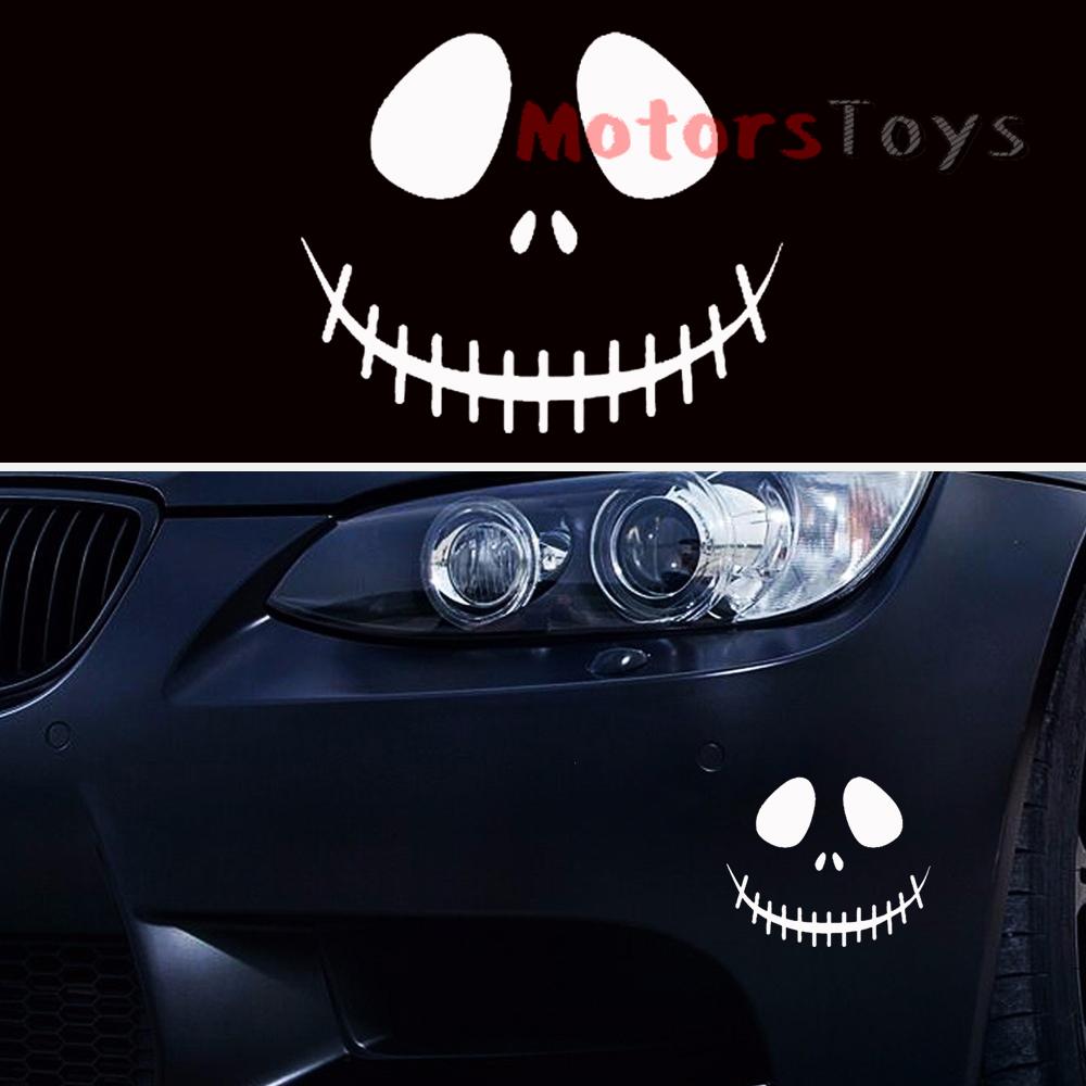 1x fashion jdm ghost rider skull hellaflush vinyl motorcycle car sticker decal