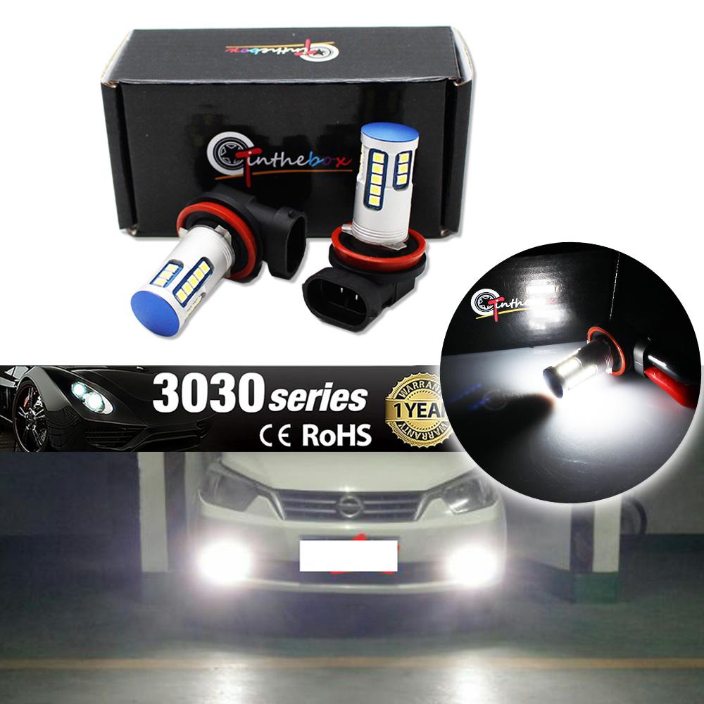 2pcs Xenon White 3030 Chipsets H11 H8 Led Bulbs Lamps For Fog Drl Lamp Lightings Gt Wholesale 5mm Leds Running Lights