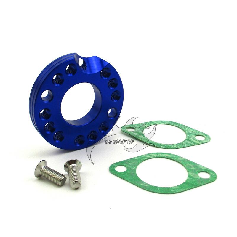 Blue Carburetor Manifold Intake Pipe Spinner Plate Adaptor Dirt Bike ATV Quad