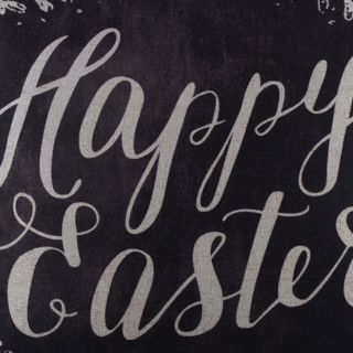 Happy Easter Blackboard Art Chalk Words Look Linen Cushion Cover 18 Shabby Chic Wreath