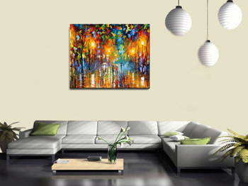 Abstract Night Knife Painting On Canvas Scenery Wall Art Home Decor Nice  Gift