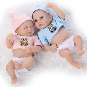 10 preemie bebes reborn twin boy and girl doll silicone lifelike baby dolls toy