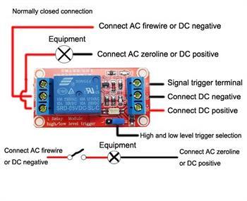 5v 12v 24v 10a 1 Channel Relay Module Optocoupler H L
