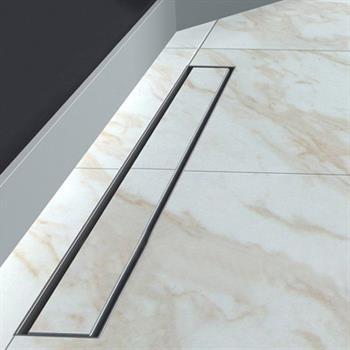 bathroom linear shower drain tile insert floor channel stainless steel
