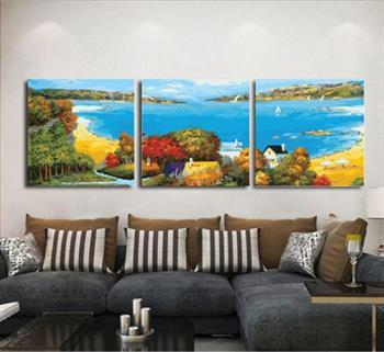 50x50cm Triptychon Malen nach Zahlen DIY Liebhaber Malerei Dekor Rahmenlos 230
