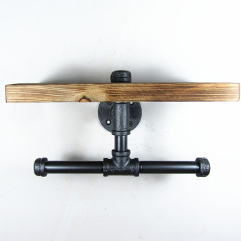 Urban Industrial Iron Pipe Wall Mount Double Toilet Paper
