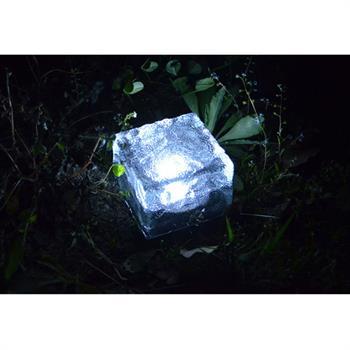 led solar bodenleuchte glas eckig garten rgb boden bodenlampe,